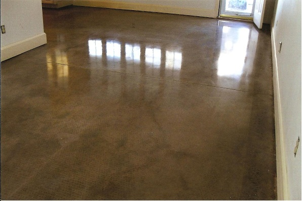 Concrete polished floor polished concrete wichita ks for Residential concrete floor wax