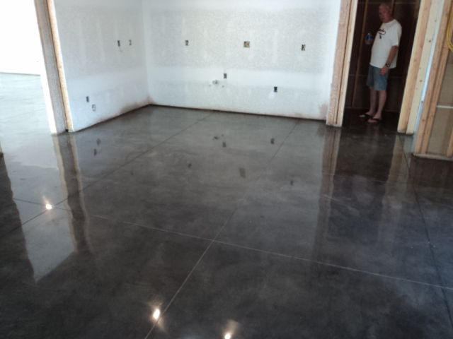 Gray Concrete Flooring : Polished concrete installer in kansas stonecraft floors