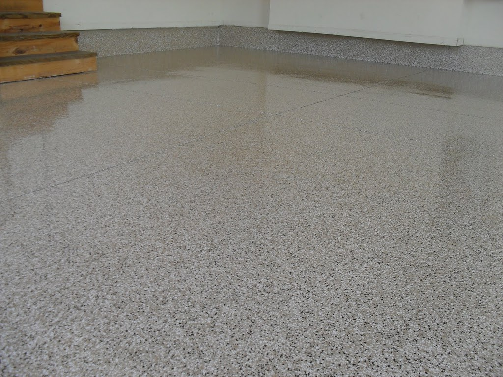 Epoxy flooring poured epoxy flooring residential for Epoxy flooring