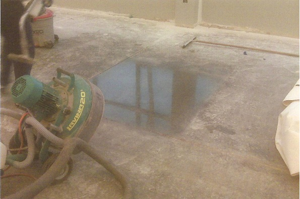 Testing a area for polished concrete